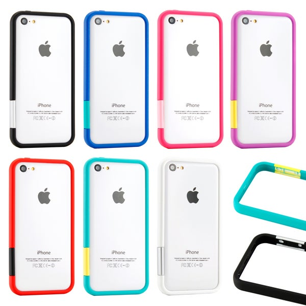 Gearonic Hard PC Frame Bumper Case Cover with Rubberized for iPhone 5C