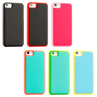 Gearonic iPhone 5C Slim PU Leather Back Cover Hard Rubberized Case