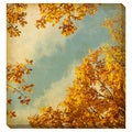 Vintage Autumn Leaves Oversized Gallery Wrapped Canvas