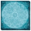 Ornate Teal Gallery Wrapped Canvas