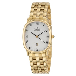 Charmex Men's 'Sorrento' Yellow Gold PVD Coated Watch