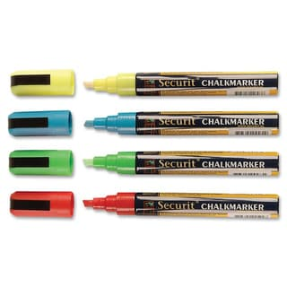 Marker Chisel Assorted Liquid Chalk Pack of 4