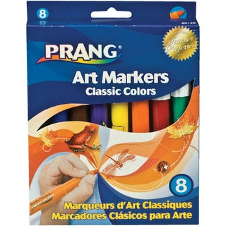 Prang 8 Assorted Colors Conical Tip Classic Art Markers Set of 8