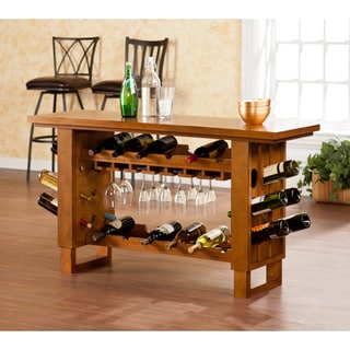 Upton Home Meridian Riddling Wine Console/ Bar Table
