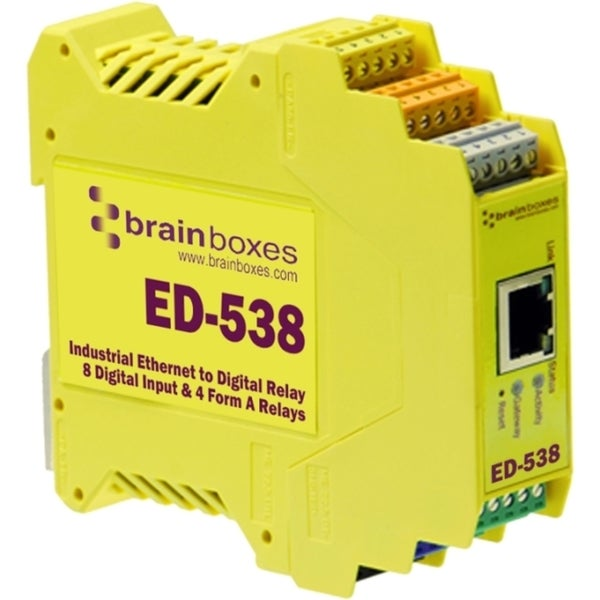 Brainboxes ED-538 Ethernet To Digital IO RelayIO Relay