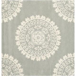 Safavieh Handmade Bella Grey Ivory Wool Rug 5 Square