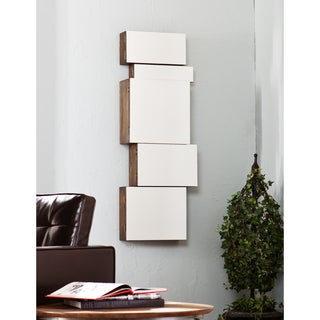 Upton Home Alcoa Mirrored Wall Mount Storage Box 5pc Set
