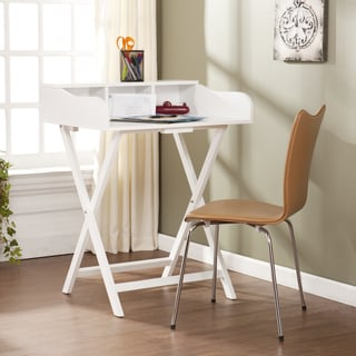 Upton Home Marion White Folding Craft/ Student Desk/ Table