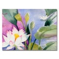 Sheila Golden 'Lotus Pond' Canvas Art