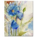 Sheila Golden 'Magical Blue Poppy' Canvas Art