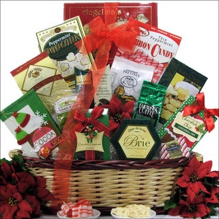 Tidings of Joy Medium Gourmet Holiday Christmas Gift Basket