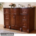 Natural Granite Top 48-inch Light Walnut Single Sink Bathroom Vanity