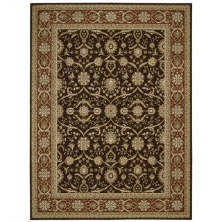 Nourison Persian Crown Dark Brown Area Rug (5'3 x 7'4)
