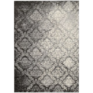 kathy ireland Home Santa Barbara Gray Abstract Area Rug (5'3 x 7'5)