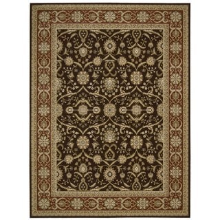 Nourison Persian Crown Dark Brown Area Rug (7'10 x 10'6)