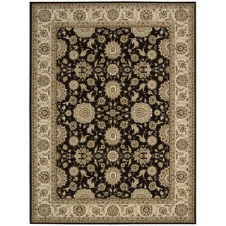 Nourison Persian Crown Black Area Rug (5'3 x 7'4)