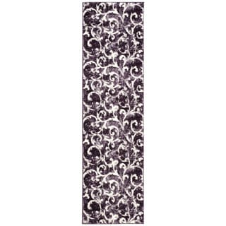 kathy ireland Home Santa Barbara Dark Violet Area Rug (2'2 x 8')