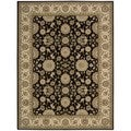 Nourison Persian Crown Black Polypropylene Rug (1'11 x 2'11)