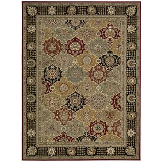 Nourison Persian Crown Black Rug (5'3 x 7'4)