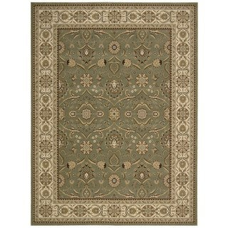 Nourison Persian Crown Green Polypropylene Rug (9'3 x 12'9)