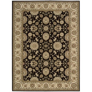 Nourison Persian Crown Black Oriental Rug (7'10 x 10'6)