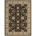 Nourison Persian Crown Black Oriental Rug (7'10 x 10'6)