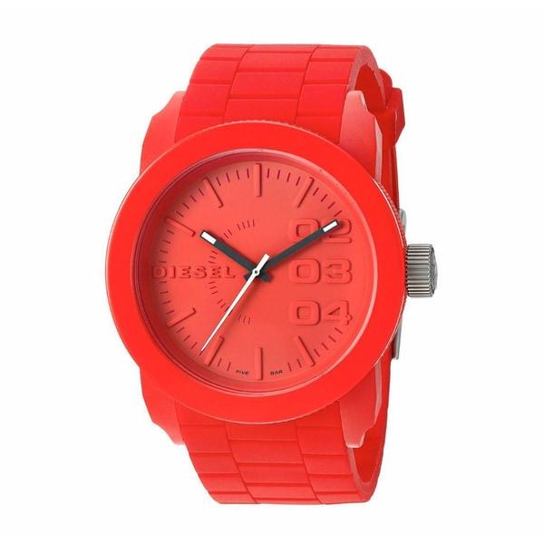 Diesel Men's DZ1440 Red Plastic Analog Quartz Watch with Red Dial