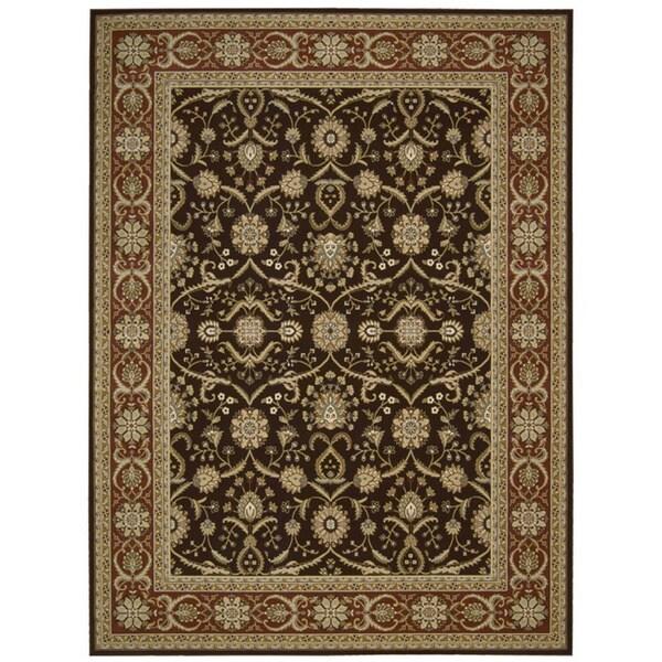 Nourison Persian Crown Dark Brown Rug (9'3 x 12'9)