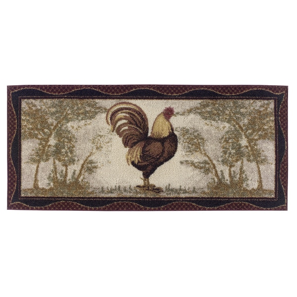"""Tall Rooster Accent Rug (20""""x44"""")"""