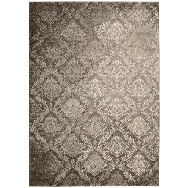 kathy ireland by Nourison Santa Barbara Beige/Brown Rug (5'3 x 7'5)