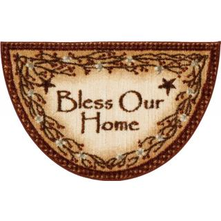 "'Bless Our Home' Brown Accent Rug (19""x31"")"