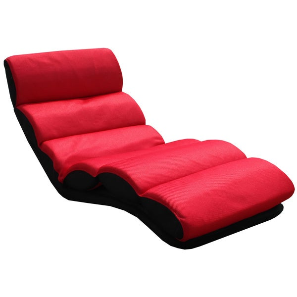 K&B Red Folding Lounge Chair Home Living Mid Modern Recliner Room Seat