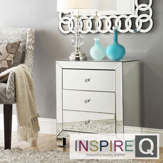 INSPIRE Q Esmond Mirrored 3-drawer Accent Table