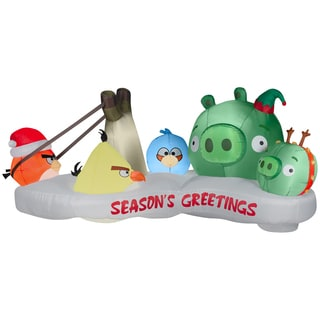 Inflatable Christmas Angry Bird Scene Decoration
