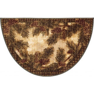 Rustic Lodge Pine Cone Gingham Accent Rug (1'7 x 2'7)