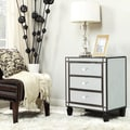 INSPIRE Q Escanaba Mirrored 3-drawer Black Trim Accent Table
