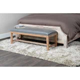 Kosas Home Leno Leather Bench