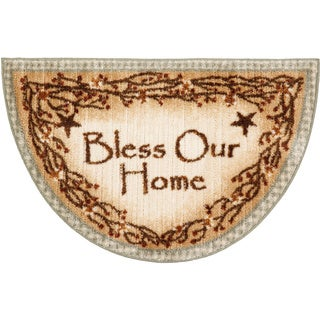 """'Bless Our Home' Sage Accent Rug (1'7""""x2'7"""")"""