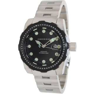Android Men's 'Stance' Black Dial Steel Automatic Watch