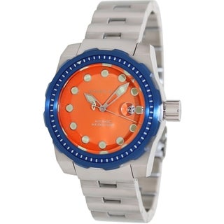 Android Men's 'Stance' Stainless Steel Orange Dial Automatic Watch