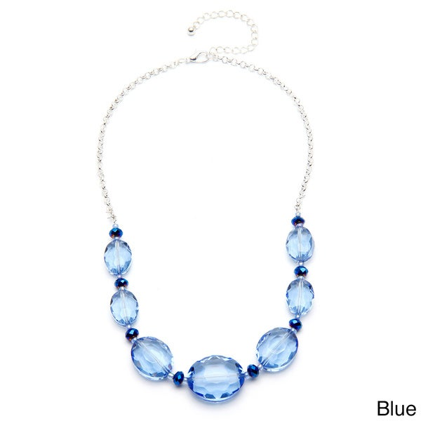 Alexa Starr Faceted Oval Frontal Necklace