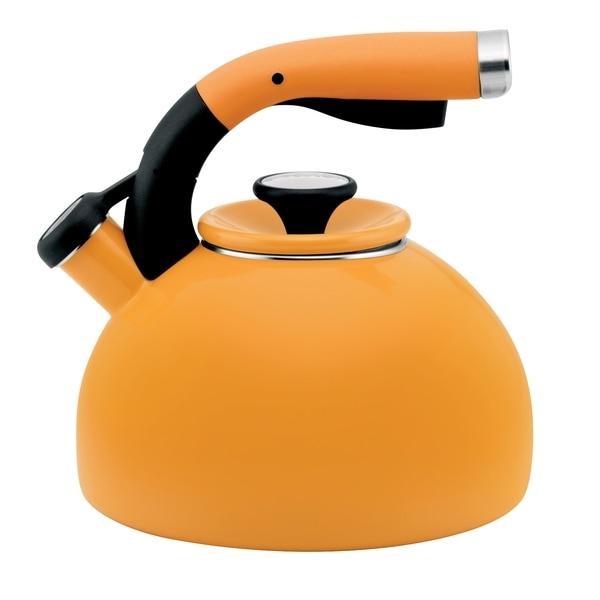 Circulon 2-quart Mustard Yellow Morning Bird Teakettle 11799322