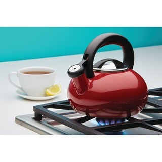 Circulon 1 1/2-quart Rhubarb Red Sunrise Teakettle