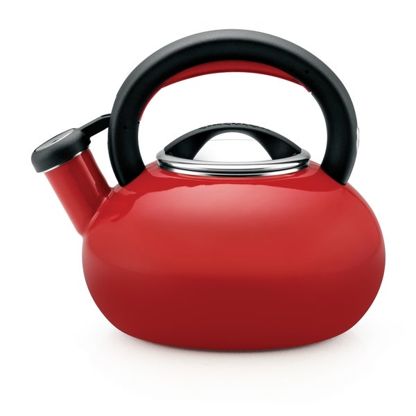 Circulon 'Sunrise' Rhubarb Red Enameled Stainless Steel 1.5-quart Tea Kettle