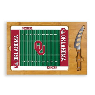 Picnic Time University of Oklahoma Sooners Icon Cheese Tray