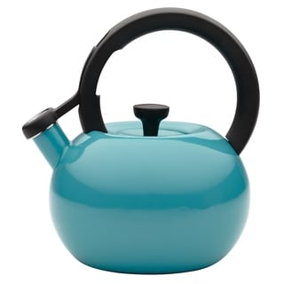 Circulon 'Circles' Capri Turqouise Enameled Stainless Steel 2-quart Tea Kettle