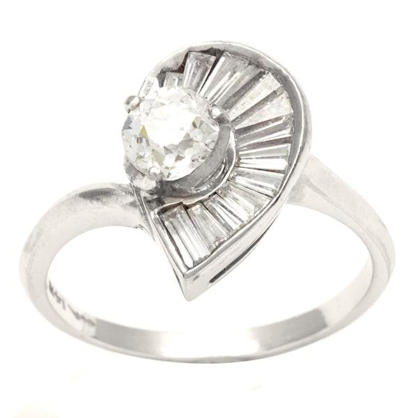 Pre-owned 14k White Gold 4/5ct TDW Diamond Ballerina Estate Ring (G-H, VS1-VS2)