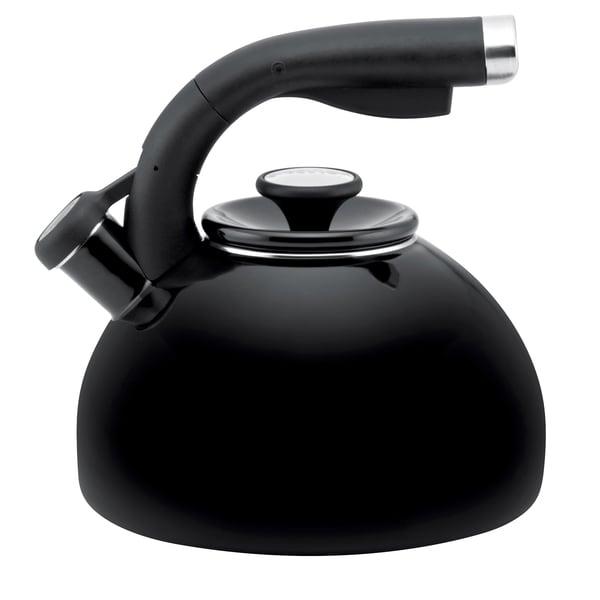 Circulon 'Morning Bird' Black Enameled Stainless Steel 2-quart Tea Kettle 11799353