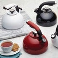 Circulon 'Morning Bird' Black Enameled Stainless Steel 2-quart Tea Kettle