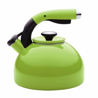 Circulon 'Morning Bird' Kiwi Green Enameled Stainless Steel 2-quart Tea Kettle